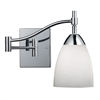 ELK lighting Celina 1 Light Swingarm Sconce In Polished Chrome And Simple White