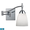 Celina 1 Light LED Swingarm Sconce In Polished Chrome And Simple White
