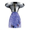 ELK lighting Celina 1 Light Semi Flush In Polished Chrome And Starburst Blue Glass
