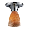 Celina 1 Light Semi Flush In Pollished Chrome And Cocoa Glass