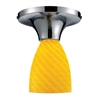 Celina 1 Light Semi Flush In Polished Chrome And Canary Glass