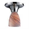 Celina 1 Light Semi Flush In Polished Chrome And Creme Glass