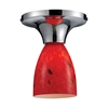 Celina 1 Light Semi Flush In Polished Chrome And Fire Red