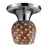 ELK lighting Celina 1 Light Semi Flush In Polished Chrome And Multi Fusion Glass