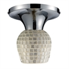 Celina 1 Light Semi Flush In Polished Chrome And Silver