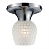 ELK lighting Celina 1 Light Semi Flush In Polished Chrome And White