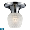 ELK lighting Celina 1 Light LED Semi Flush In Polished Chrome And White