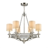 Easton 6 Light Chandelier In Polished Nickel