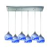 ELK lighting Mela 6 Light Pendant In Satin Nickel And Mountain