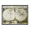 Map Of Terrqueous Globe, Oxford