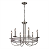 ELK lighting Braxton 6 Light Chandelier In Polished Nickel