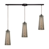 ELK lighting Jerard 3 Light Pendant In Oil Rubbed Bronze And Mercury Glass