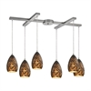 Geval 6 Light Pendant In Satin Nickel