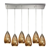 ELK lighting Karma 6 Light Pendant In Satin Nickel