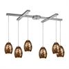ELK lighting Venture 6 Light Pendant In Satin Nickel