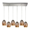 Venture 6 Light Pendant In Satin Nickel