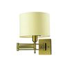 Pembroke 1 Light Swingarm Sconce In Brushed Antique Brass