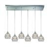 ELK lighting Kersey 6 Light Pendant In Satin Nickel