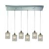 Kersey 6 Light Pendant In Satin Nickel