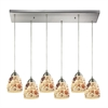 ELK lighting Shells 6 Light Pendant In Satin Nickel