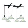 ELK lighting Hand Formed Glass 6 Light Pendant In Oil Rubbed Bronze