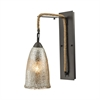 ELK lighting Hand Formed Glass 1 Light Wall Sconce In Oil Rubbed Bronze