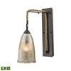 ELK lighting Hand Formed Glass 1 Light LED Wall Sconce In Oil Rubbed Bronze