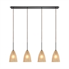 Calipsa 4 Light Pendant In Oil Rubbed Bronze