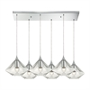 Geometrics 6 Light Pendant In Polished Chrome