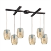Geometrics 6 Light Pendant In Oil Rubbed Bronze