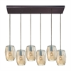 ELK lighting Geometrics 6 Light Pendant In Oil Rubbed Bronze