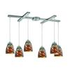 Abstractions 6 Light Pendant In Satin Nickel
