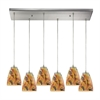 ELK lighting Abstractions 6 Light Pendant In Satin Nickel