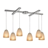 ELK lighting Sandstorm 6 Light Pendant In Satin Nickel