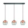 ELK lighting Revelo 3 Light Pendant In Oil Rubbed Bronze