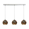 Illusions 3 Light Linear Pan Fixture In Polished Chrome With 3-D Starburst Glass