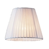 ELK lighting Renaissance Mini Shade In White Pleated Fabric