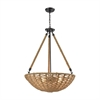 ELK lighting Weaverton 4 Light Chandelier In Oil Rubbed Bronze