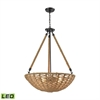 Weaverton 4 Light LED Chandelier In Oil Rubbed Bronze