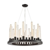 Glass Skyline 12 Light Chandelier In Oil Rubbed Bronze