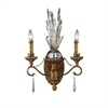 ELK lighting Senecal 2 Light Wall Sconce In Spanish Bronze