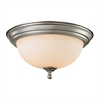 Cornerstone Chatham 3 Light Flush Mount In Brushed Nickel