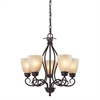 Cornerstone Chatham 5 Light Chandelier In Oil Rubbed Bronze