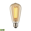 Filament Medium LED Bulb With Light Gold Tint