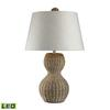 "26"" Sycamore Hill Rattan LED Table Lamp in Light Natural Finish"