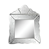 Small Scroll Trim Square Venetian Mirror