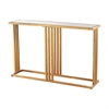 Andy Console In Gold Leaf And Clear Mirror