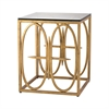 Dimond Home Amal Side Table Antique Gold Leaf