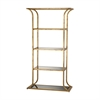 Petronas Bookshelf Antique Gold Leaf,Black Glass