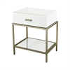 Evans White Side Table